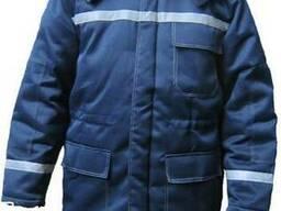 Куртка с меховым воротником с СВП полосами