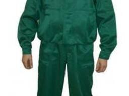 Куртка с полукомбинезоном рабочая, зеленая, из наличия