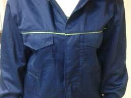 Куртка с полукомбинезоном саржа для слесарей