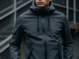 Куртка Softshell мужская серая демисезонная Intruder. осенняя весенняя веровка на флисе