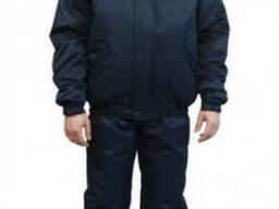Полукомбинезон с курткой утепленные для охраны