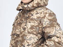 Куртка утепленная камуфлированная для военных, камуфляж Цифр