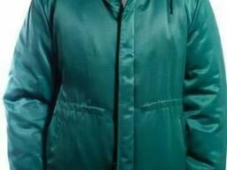 Куртка утепленная Контакт зеленая