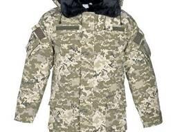 Камуфлированная утепленная куртка