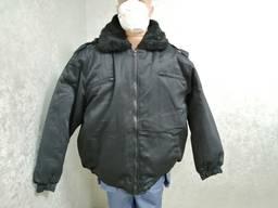 Куртка утепленная Пилот куртка охранника зимняя черная спецодежда охраны