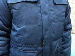 Куртка утепленная с СВП, тк.грета синяя
