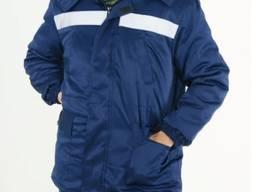 Куртка утепленная с воротником и капюшоном на синтепоне