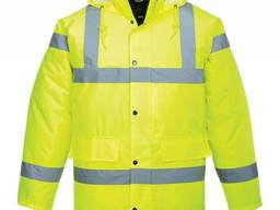 Куртка утепленная сигнальная желтая