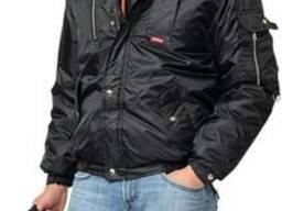 """Куртка утепленная укороченная """"Аляска"""" черная, тк. Оксфорд"""""""