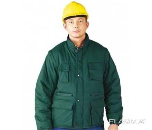 Куртка утепленная зеленая L опт