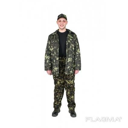 Камуфлированная ватная куртка