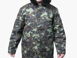 Куртка ватная камуфлированная без капюшона