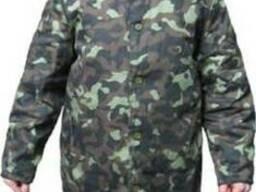 Куртка ватная с камуфлированная