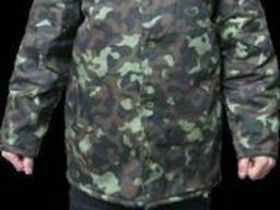 Куртка камуфлированная ватная, мужская, рабочая одежда