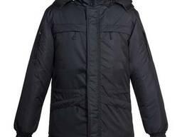 Куртка утепленная на флисе черная ( рабочая)