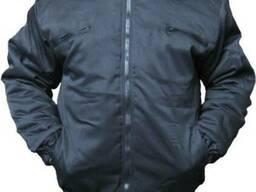 Курточка утепленная Пилот, черная с капюшоном и меховым воро