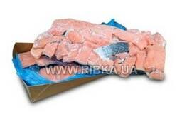Куски филе лосося на шкуре с/м (7, 5 кг)