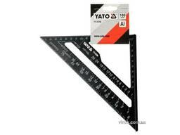 Кутник теслярський алюмінієвий YATO 180 мм