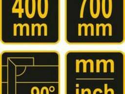 Кутники з рівнем Vorel 150/400/700 мм, метрична і дюймова шкали, алюміній+сталь, 3 шт.