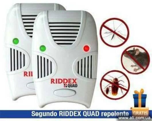 Отпугиватель грызунов и комаров, тараканов Riddex Quad Ридде