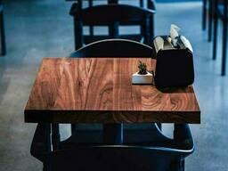 Квадратный столик для кафе и ресторанов из массива дерева 80х80