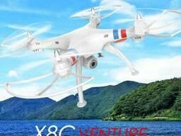 Квадрокоптер syma X8C wi-fi, камера 2 mpx, пульт 2. 4g, 4 ка