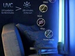 Кварцевая лампа UVTL-01 бактерицидная БЕЗ Озоновая 40W для больших помещений 50 м2. ..
