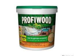 Лак по дереву и камню Profiwood глянцевый, 0,9кг