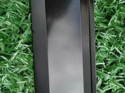 Ламели для забора Жалюзи металлический 112мм цвет 9005 черный глянец двухсторонний 0, 45. ..