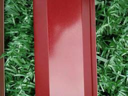 Ламели для забора металлический Жалюзи 112мм цвет 3005 вишневый глянец двухсторонний. ..