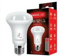 Лампа светодиодная Maxus LED R63 7W 4100K 220V E27 AP
