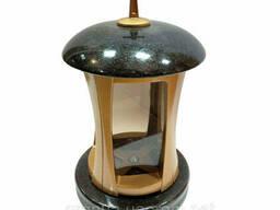 Лампада (подсвечник) гранитная черная для мемориальных. ..
