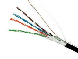 ElectroHouse Кабель вита пара FTP 4х2х0,51 Cu (зовнішній монтаж, зі сталевим дротом) ПЕ. ..