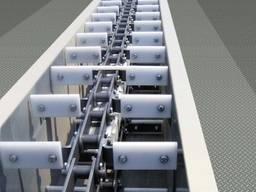Ланцюгові скребкові транспортери, ланцюги УТФ-200, 320, 500, зірочки та вали
