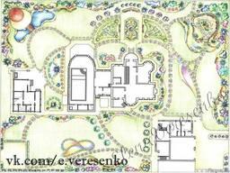 Ландшафтный проект, визуализация, благоустройство