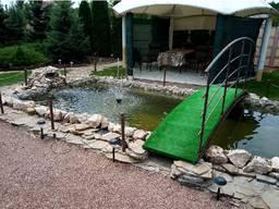 Ландшафтные работы: пруды, водоемы, ручьи, водопады.