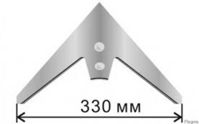 Лапа стрельчатая КПС 330мм /шепетовка/ кованная каленая БО
