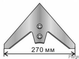 Лапа стрельчатая КПС 270мм кованная каленая бор