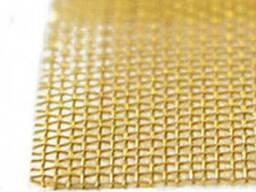 Сетка тканая латунная ГОСТ 6613-86 Л-80 0, 125-0, 08 100 см