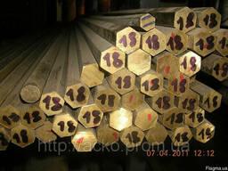 Латунный шестигранник ЛС59-1 прес ф 6, 8, 14, 16, 20, 26, 34