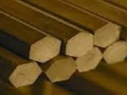 Латунный шестигранник ЛС59 ф № 10, 11, 12,13, 14, 15, 16,17,