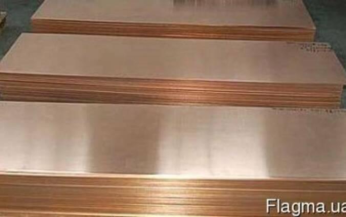 Бронзовый лист БрБ2 мяг/тв 10х400х50