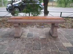 Лавочка Паркова з дошкою, садово-паркова, L1320*b350*h450