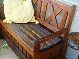 Лавка садовая деревянная с функциональным ящиком под заказ
