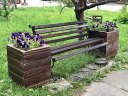 Скамейка садовая. Деревянная лавочка