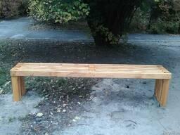 Лавка скамейка уличная деревянная, мат Ольха