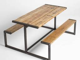 Лавка, стіл лофт на замовлення, комплект меблів на заказ