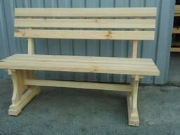 Лавки, скамейки деревянные уличные - фото 1