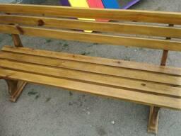 Лавки, скамейки деревянные уличные - фото 4