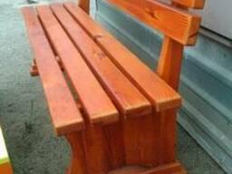 Лавки, скамейки деревянные уличные - фото 5